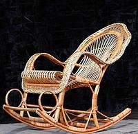 Кресло-качалка плетеное из лозы Король