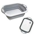 Складная разделочная доска для мытья и резки овощей Многофункциональная разделочная складная доска + Подарок, фото 2