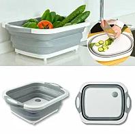 Складная разделочная доска для мытья и резки овощей Многофункциональная разделочная складная доска + Подарок