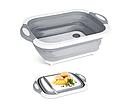 Складная разделочная доска для мытья и резки овощей Многофункциональная разделочная складная доска + Подарок, фото 4