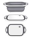 Складная разделочная доска для мытья и резки овощей Многофункциональная разделочная складная доска + Подарок, фото 6