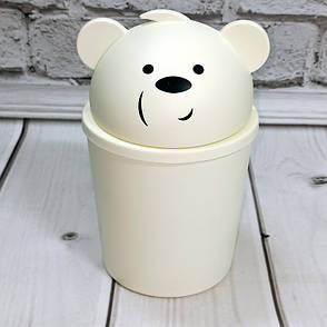 Ведерко для мусора 1100мл Панда Турция, фото 2