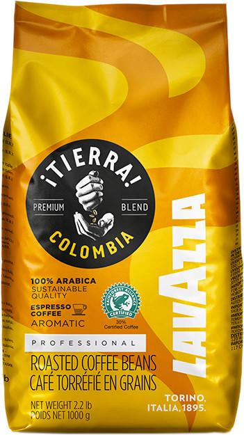 Кофе Lavazza Tierra Colombia 100% Arabica (кофе Лавацца Тиерра Колумбия, желтая) в зернах 1 кг