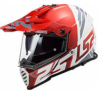 Шлем LS2 MX436 PIONEER EVO EVOLVE RED WHITE, фото 1