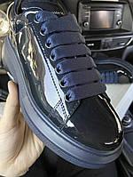 Кроссовки женские Alexander McQueen Patent Black