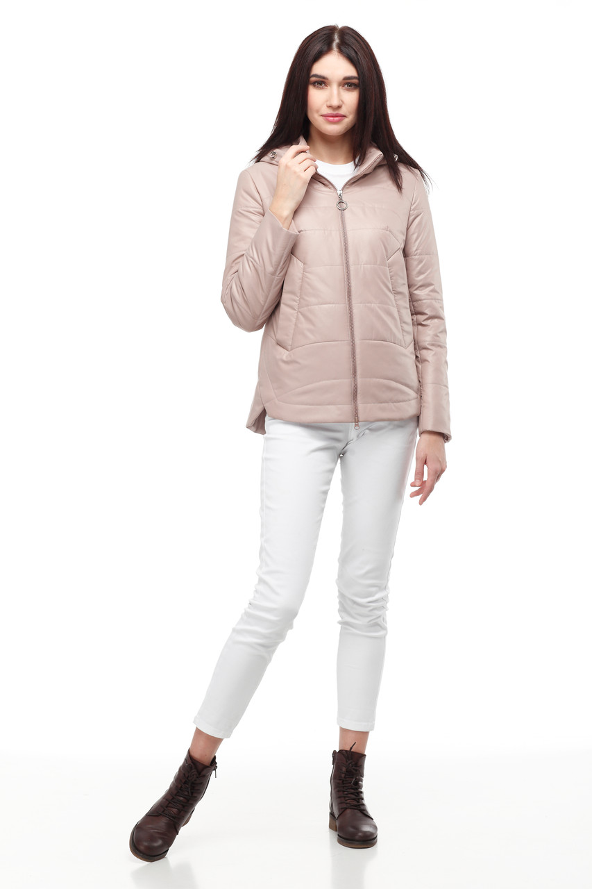 Демисезонная женская куртка ORIGA Амина 46 Капучино