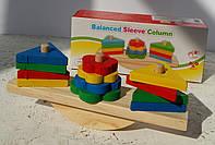 "Деревянная игрушка ""Геометрика балансир""  MD2317"