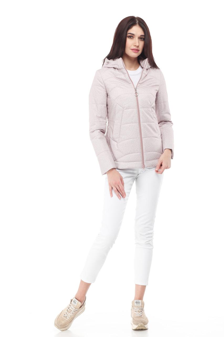 Демисезонная женская куртка ORIGA Амина 44 Пудра
