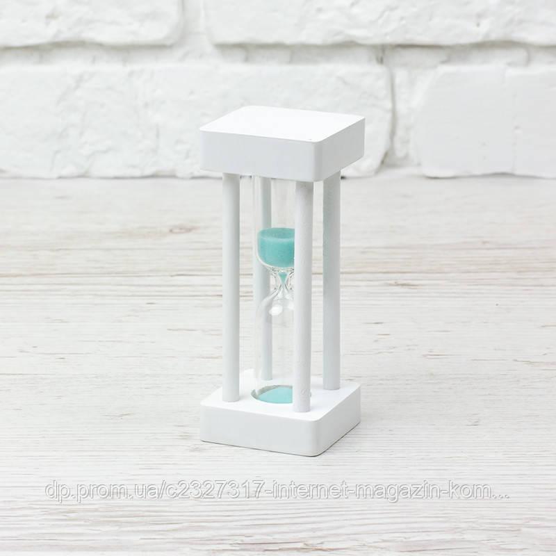 Часы песочные 4-33, 1 мин, белый-бирюзовый песок 12 см