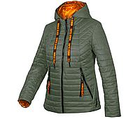 Куртка демисезонная женская с капюшоном Fashion Хаки, 60
