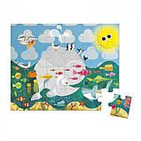 Пазл Лес, Океан, Динозавры, Janod, (24 элемента), 3+, фото 6