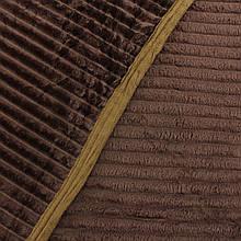 Плед коричневый шарпей покрывало из микрофибры однотонный