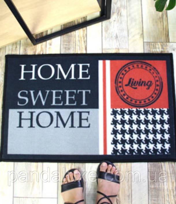 Гарний килимок для передпокою Home sweet home килим на гумовій основі 50 х 80 см