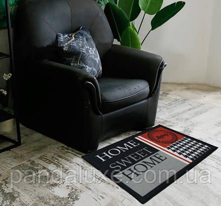 Гарний килимок для передпокою Home sweet home килим на гумовій основі 50 х 80 см, фото 2