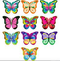 Набір метеликів №5 на двосторонньому скотчі (40шт/уп-8 видів, маленькикая упаковка)