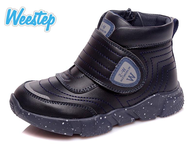 Дитячі черевики Weestep з натуральної шкіри для хлопчика т. синій колір розмір 26-31 Київ