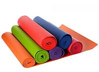 Йогамат Коврик (мат) для йоги и фитнеса ПВХ OSPORT MS 1184, размер 172,5-61 см, толщина 6 мм. Микс цветов