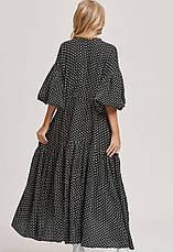 Платье черное в белый горошек oversize - 405-47, фото 3