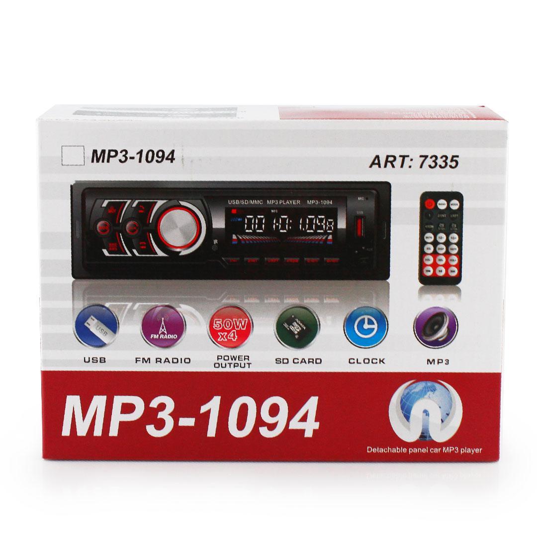 Автомагнитола MP3 1094 BT съемная панель ISO cable