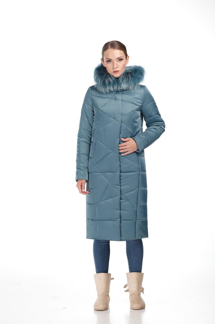 Зимняя женская куртка ORIGA Дакота 46 Сине-зеленый