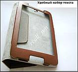Коричневый оригинальный кожаный чехол-книжка Folio Case для Lenovo IdeaTab A3500 A7-50 A7-40, фото 4