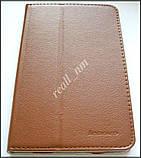 Коричневый оригинальный кожаный чехол-книжка Folio Case для Lenovo IdeaTab A3500 A7-50 A7-40, фото 2