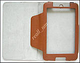 Коричневый оригинальный кожаный чехол-книжка Folio Case для Lenovo IdeaTab A3500 A7-50 A7-40, фото 3