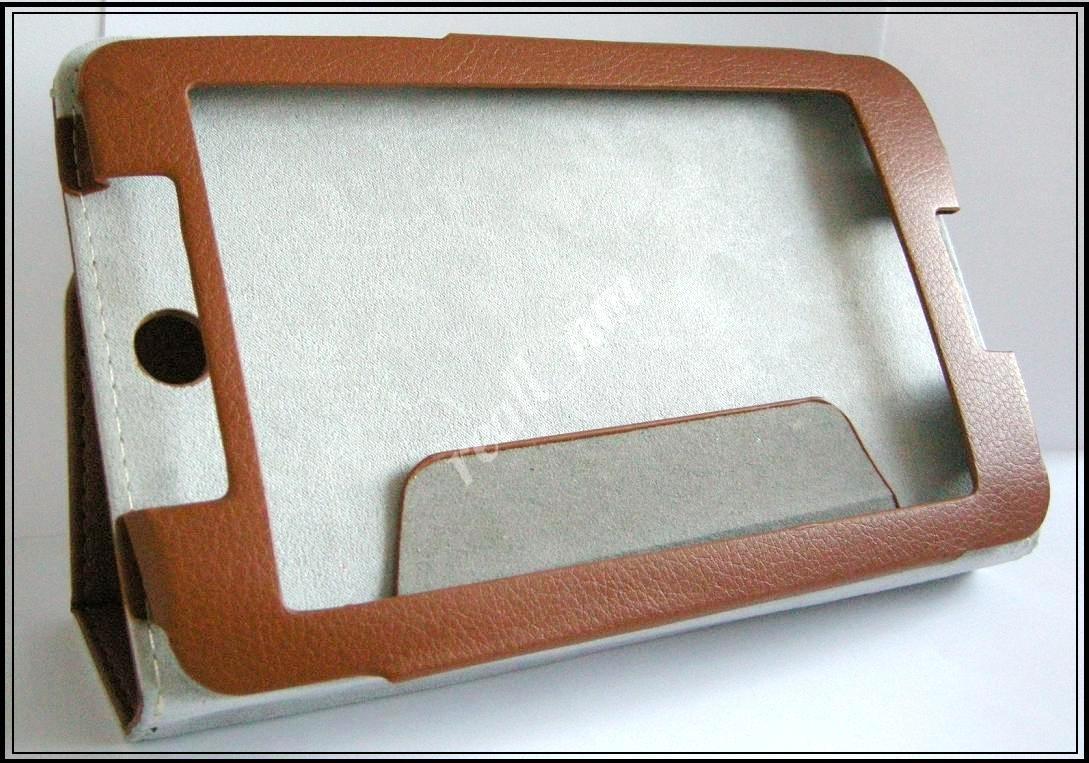 Коричневый оригинальный кожаный чехол-книжка Folio Case для Lenovo IdeaTab A3500 A7-50 A7-40