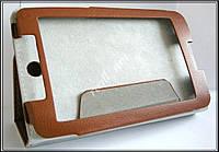 Коричневый оригинальный кожаный чехол-книжка Folio Case для Lenovo IdeaTab A3500 A7-50 A7-40, фото 1
