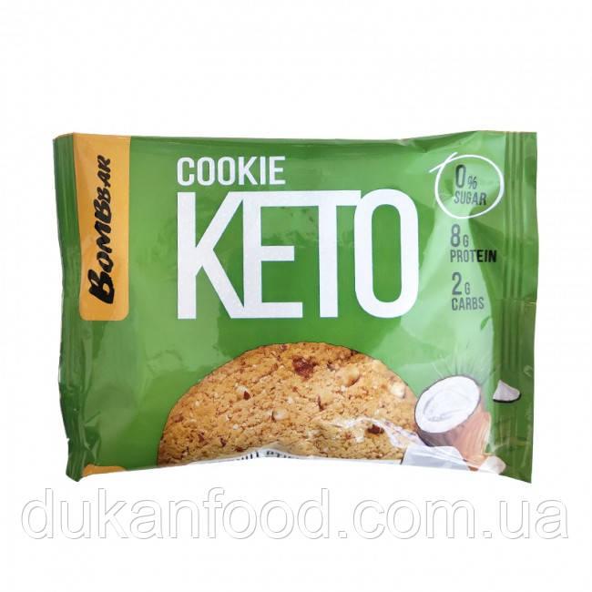 Keto Cookie, Кокосовый птифур и миндаль, Bombbar