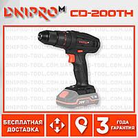 Аккумуляторная ударная дрель-шуруповерт Dnipro-M CD-200TH