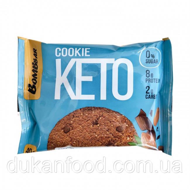 Keto Cookie, Шоколадный крем и миндаль, Bombbar