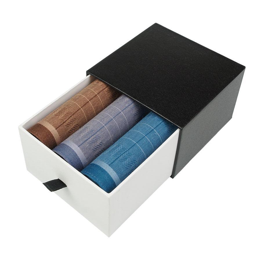Набір різнокольорових носових хустинок для чоловіків  Ega 3 шт CH-554/3С