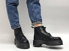 Женские ботинки Dr.Martens Rad JADON mid кожа, демисезон черный. ТОП Реплика ААА класса., фото 3