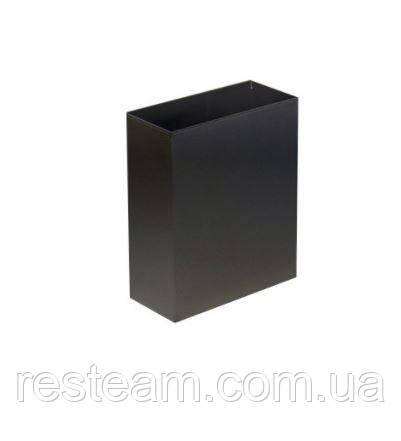 Урна для мусора нерж прямоуг.  6 л  черная S-LINE M106 Black