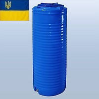 Емкость для воды 300 литров пластиковая. Пластиковые бочки вертикальные двухслойные и однослойные. 300 л.