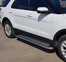 Подножки на Ford Explorer (c 2011---) 60 мм