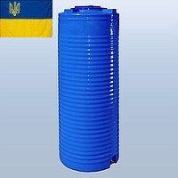 Емкость для воды 500 литров пластиковая. Пластиковые бочки вертикальные двухслойные и однослойные. 500 л.