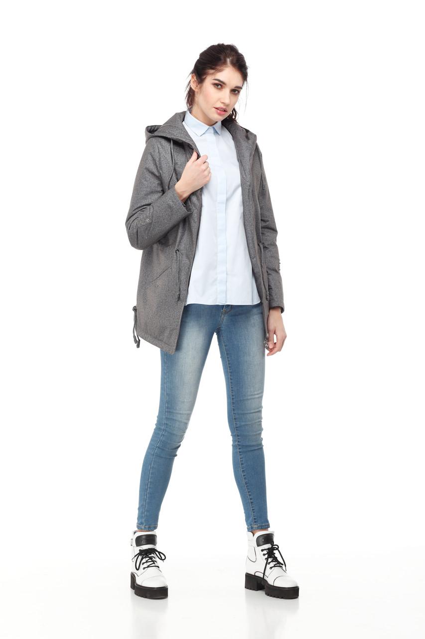 Демисезонная женская куртка ORIGA Тиана 50 Серый