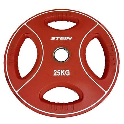 Диск атлетический полиуретановый Stein 25 кг, фото 2