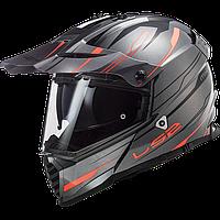 Шлем LS2 MX436 PIONEER EVO KNIGHT TITANIUM ORANGE