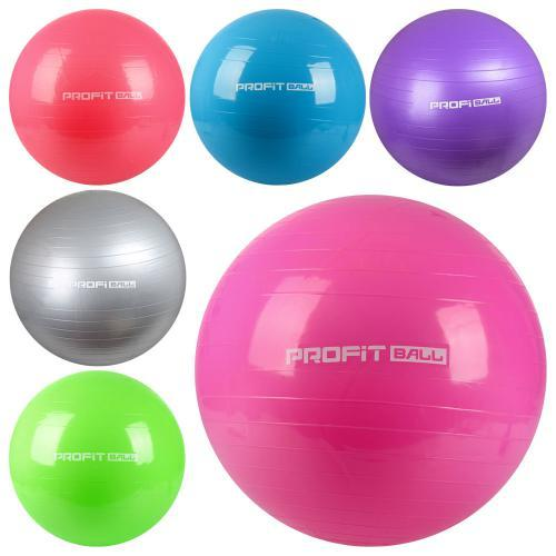 Гимнастический мяч для фитнеса 65 см Profitball MS 0382