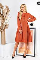 Красивое модное замшевое женское платье (42-52р), доставка по Украине