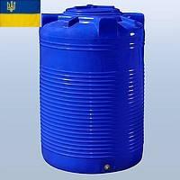 Емкость для воды 750 литров пластиковая. Пластиковые бочки вертикальные двухслойные и однослойные. 750 л.