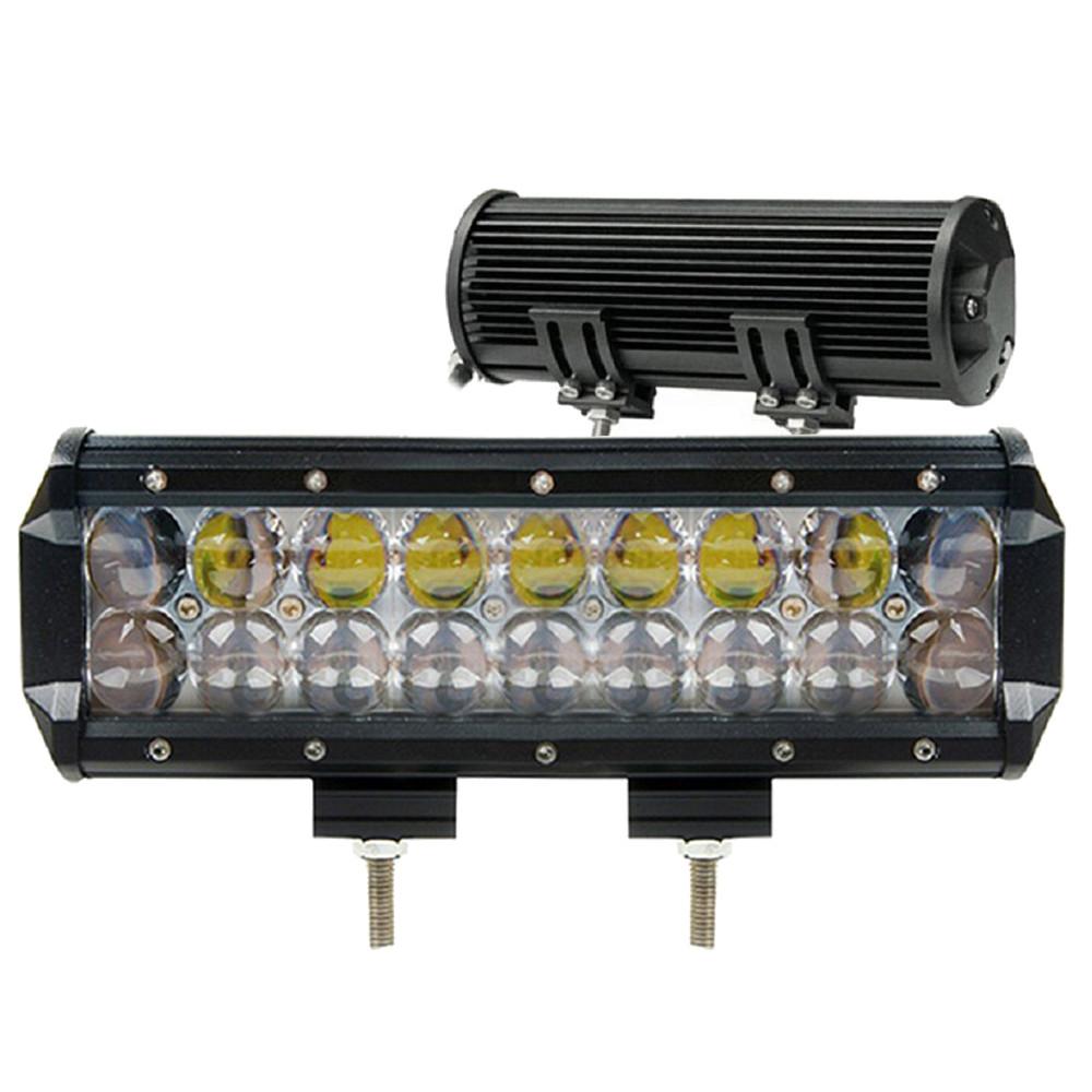 Автофара балка LightX 18 LED светодиодов 5D-54W автомобильная SPOT фара с регулировкой наклона Черный