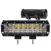 Автофара балка LightX 18 LED светодиодов 5D-54W автомобильная SPOT фара с регулировкой наклона Черный, фото 1