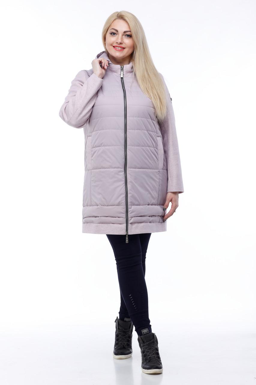 Демисезонная женская куртка ORIGA Эмма 42 Светло-сиреневый
