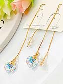 Серьги с кристаллами Сваровски, ювелирная бижутерия Xuping