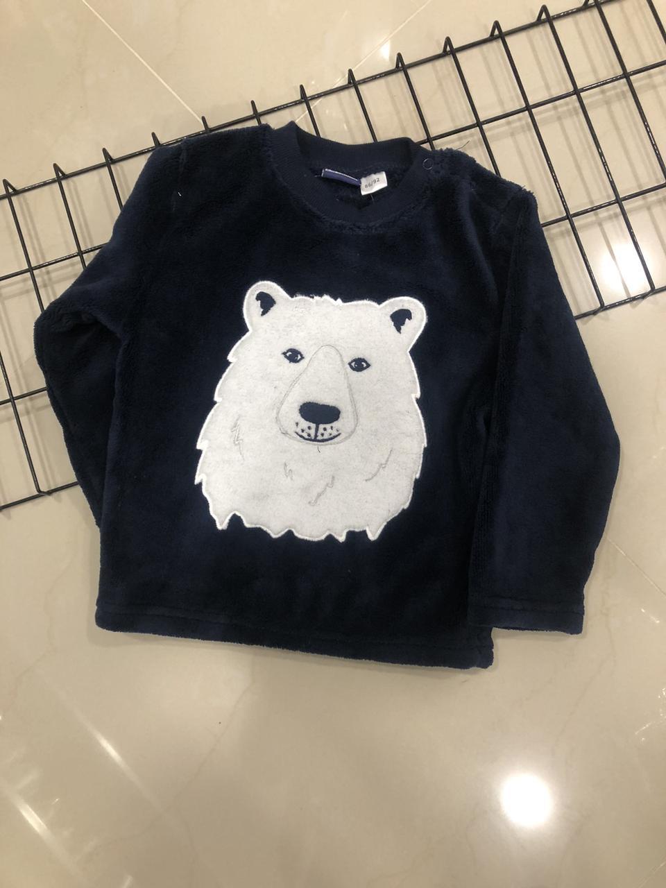 Детский свитер утепленный Lupilu ,плюш (рост 86-92)