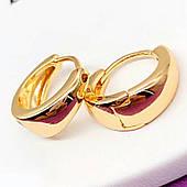 Серьги-колечки позолоченные 18 К. Медицинское золото